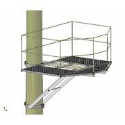 Platforma transformator pe un stalp cu balustrada