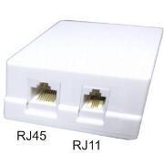 Priza dubla mixta cat5e RJ45+RJ11