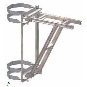 Suportul platformei sustinere transformator pe stalp metalic