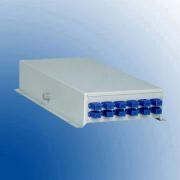 Terminal box metalic desk top pentru 12 suduri optice 12 adapentruori SC-APC
