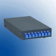 Terminal box metalic desk top pentru 8 suduri optice 8 adapentruori SC-APC