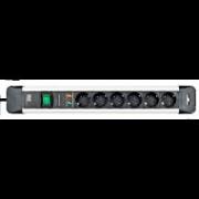 Prelungitor CONNECTUS 6xSchuko PC I 1xPST, H05VV-F 3G1.5 (protectie supratensiune)