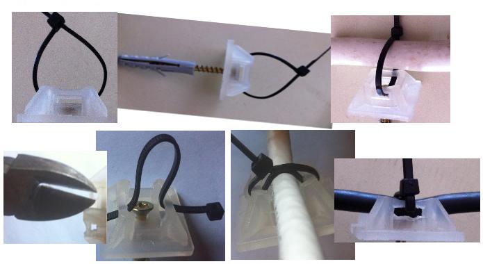 Suport pafta de prindere cu diblu si brida