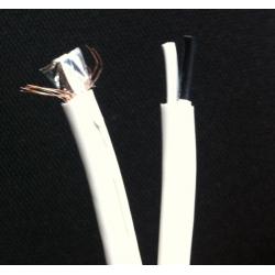 Cablu coaxial RG59 cu alimentare 75 Ohm 2x0.35