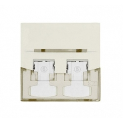 Faceplate cu 1 port Volition 45x45mm alb